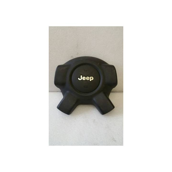 JEEP CHEROKEE KJ 02-06 OFFSIDE DRIVERS STEERING WHEEL AIRBAG IN GREY
