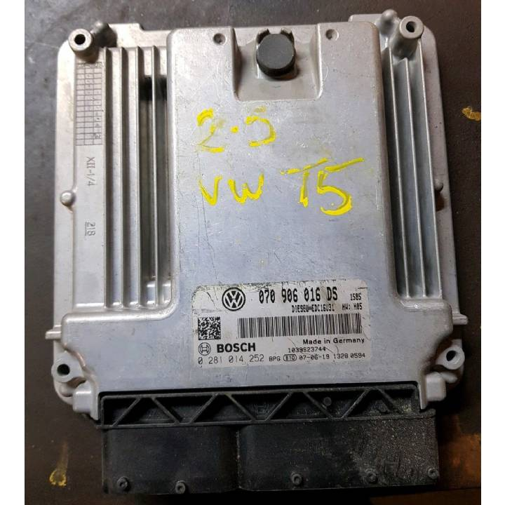 VOLKSWAGEN TRANSPORTER T5 ENGINE ECU 0281 014 252//070 906 016DS